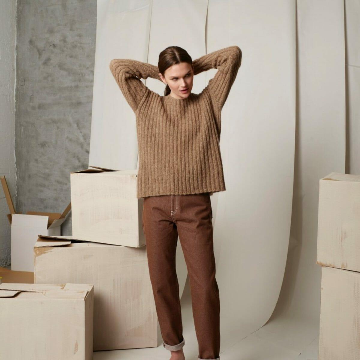 Ribbestrikket genser