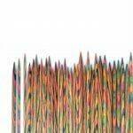 symfonie settepinner, strømpepinne, knitpr, symfonie, rainbow