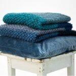 Perlepledd strikkepakke