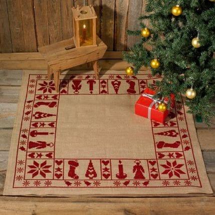 Julestemning juletreteppe fra Permin