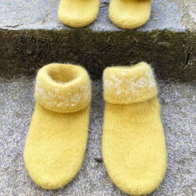 Tova snøkrystall sokker. Snøkrystall sokker tovede tøfler med stnøkrystall tiril echoff