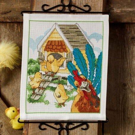Hønsehuset broderi