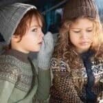 Runde strikkepakke til barn fra Den Norske Turistforening.