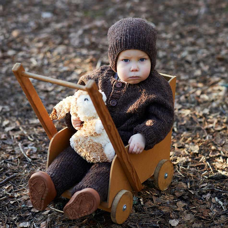 Bobojakke baby strikkepakke rauma garn
