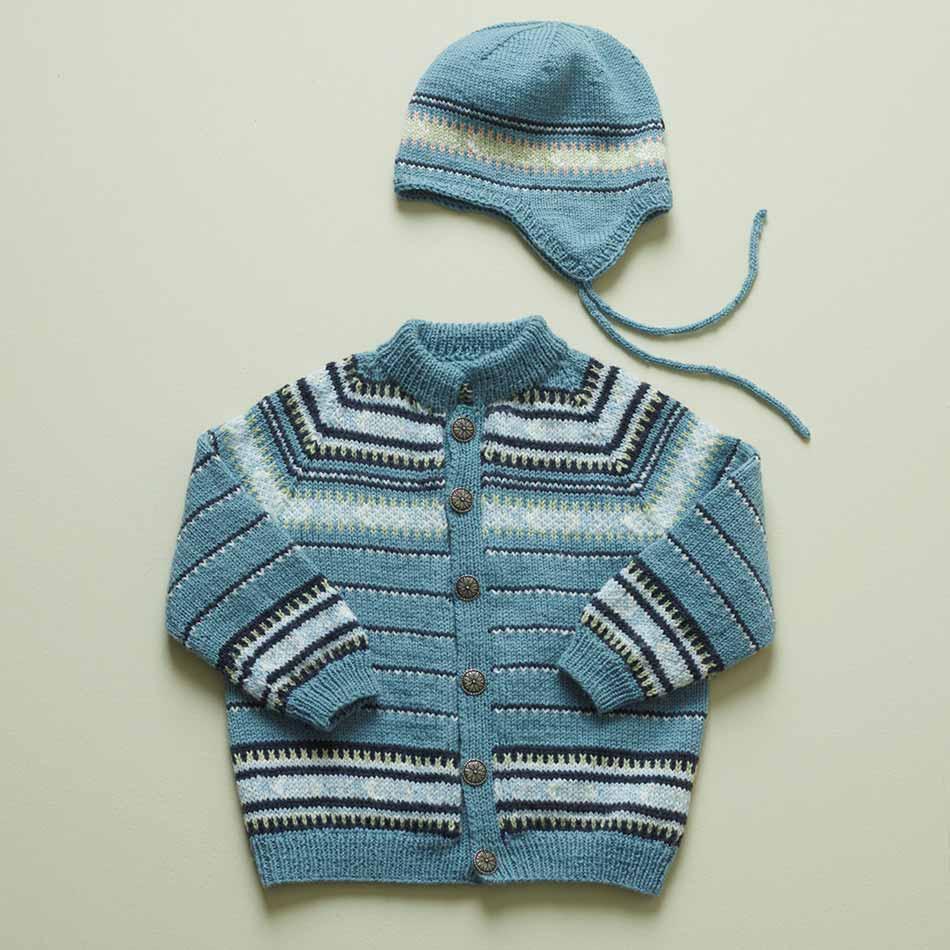 Vestfoldkofte strikkpakke barn