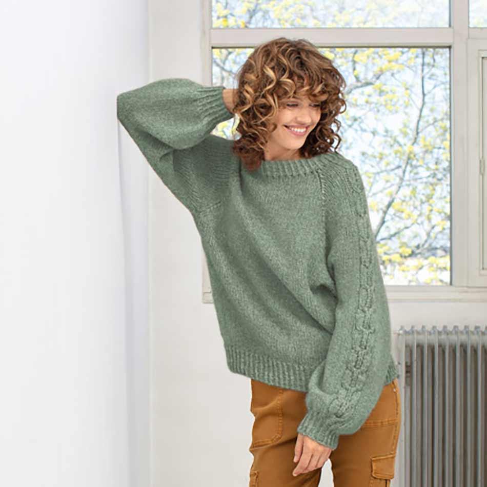 Aida Genser Jadegrønn strikkepakke dame