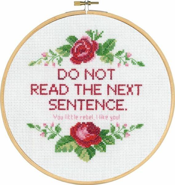 Do not read tekst broderi