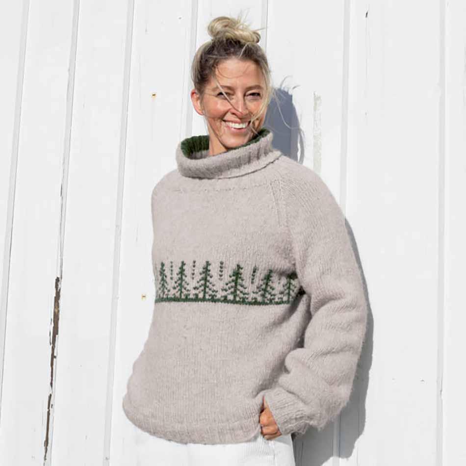 Naturlig gran Genser strikkepakke