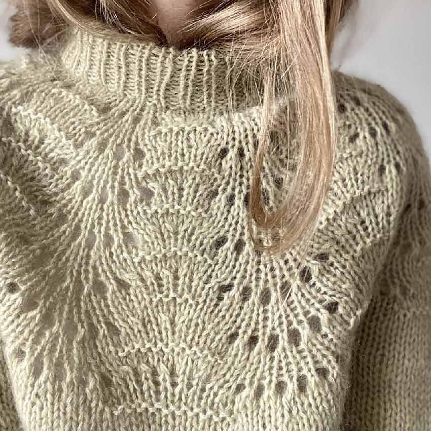 Leknit peacock sweater