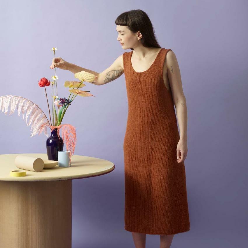Monroe kjole strikkepakke